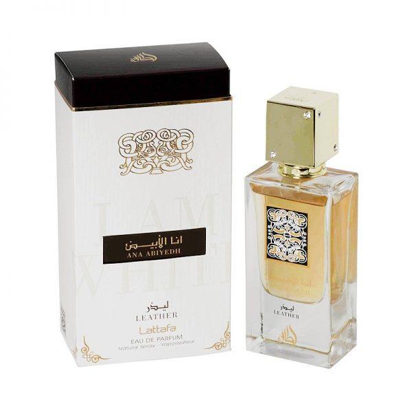 parfum arabesc ana abyiedh leather lattafa