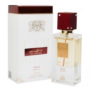 lattafa ana abyiedh rouge parfum arabesc feminin oriental