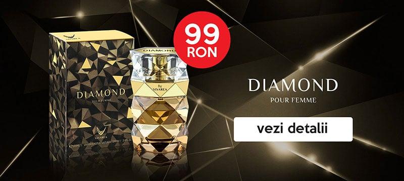 parfum dama diamond femme vivarea banner first page