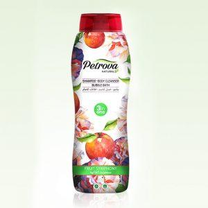sampon 3 in 1 sampon gel de dus spumant de baie fruit symphony petrova naturals