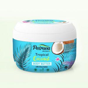 crema de corp unt de corp tropical coconut petrova naturals