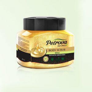 exfoliant body scrub petrova naturals gold