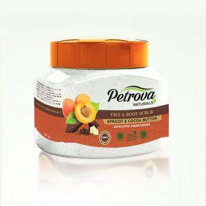 exfoliant body scrub cocoa butter si piersica petrova naturals