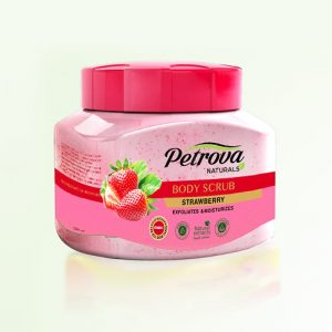 exfoliant scrub strawberry petrova naturals